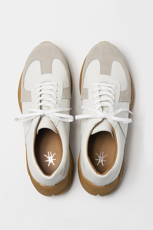 TMTK-SN-0002V WHITE LEATHER / GUM VIBRAM